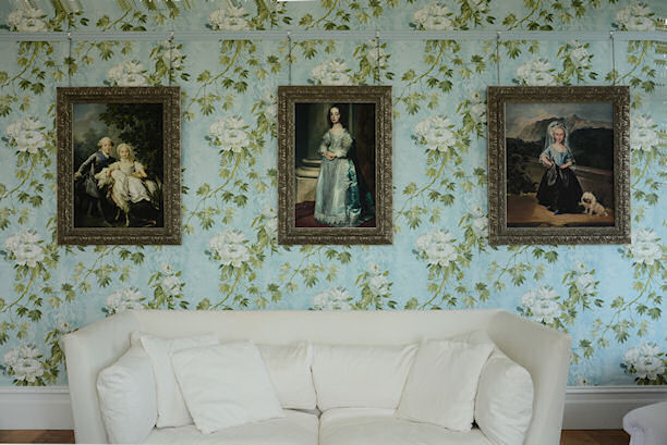 Custom Framed Set of Classic French On Floral Wallpaper