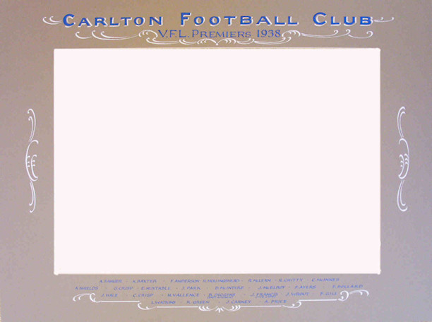 Carlton Football Club vintage photo mount