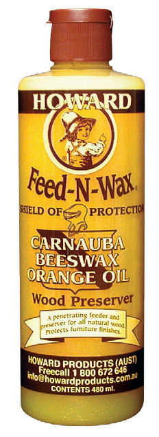 Howard Quality Wood Care Products - bottle of Feed-N-Wax