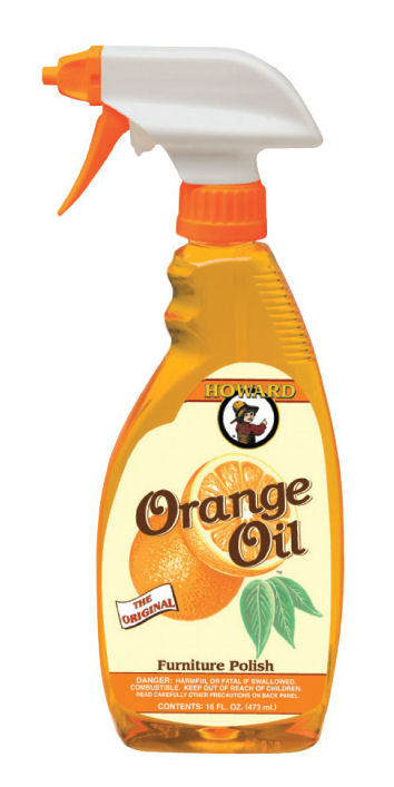 Howard Quality Wood Care Products - bottle of Orange Oil Polish