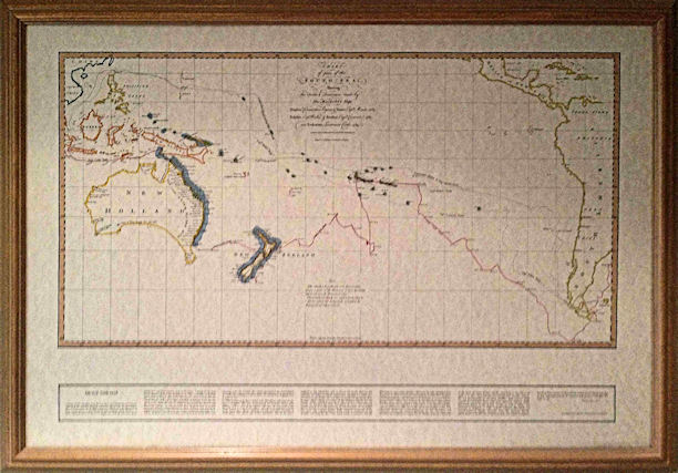 Map in Gold Frame
