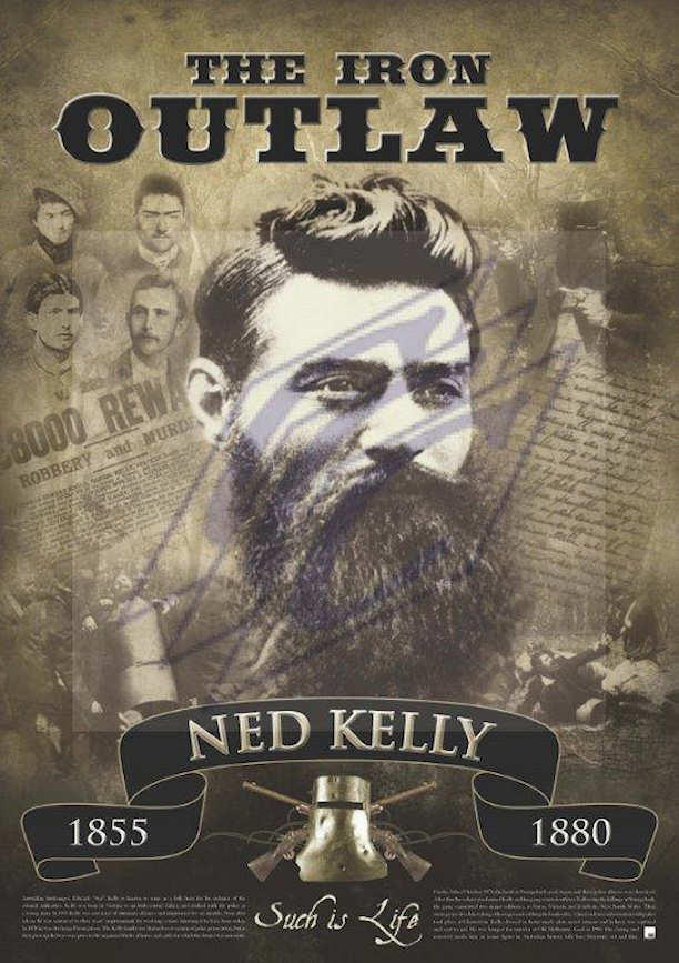 An unframed Ned Kelly Portrait Art Print that would appeal to any Kelly enthusiast or collector.