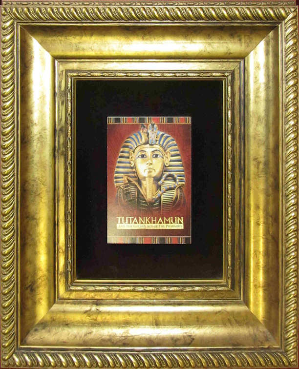 Close-up of the Head of Tutankhamun as depicted on the Golden Coffinette