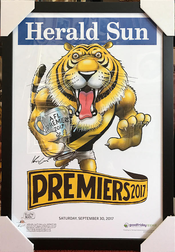 "Framed Tigers 2017 Premiership ""HERALD-SUN"" Poster"