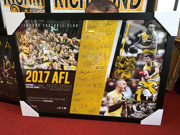 AFL Richmond Tigers 2017 Premiers Poster