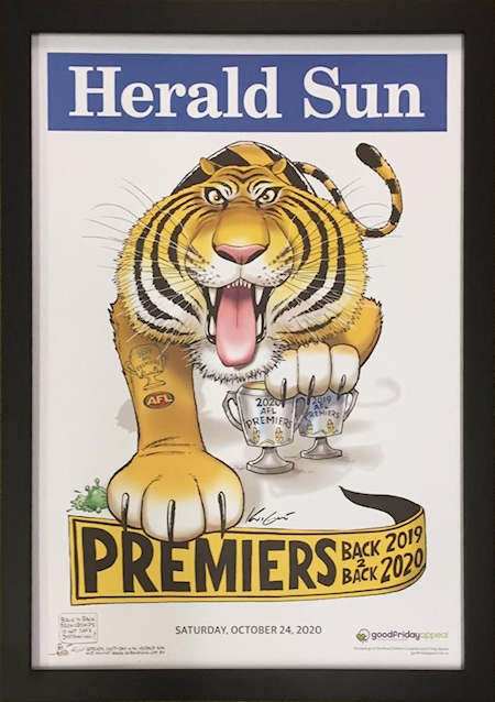 Tigers and Bulldogs Premiership Posters